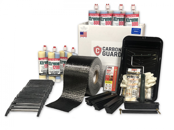 Carbon Guard | Basement Wall Repair | 20FT Wall Repair Kit | Homeowner Kit